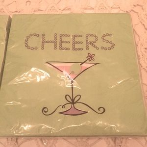 NWT 36pcs Cheers Cocktail Luncheon Napkins